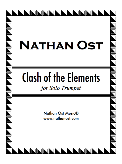 Clash of the Elements for Solo Trumpet (PDF Download)