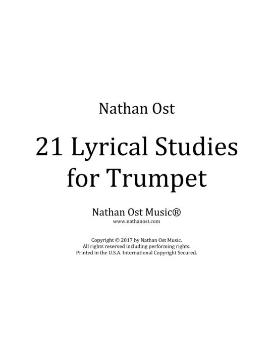 21 Lyrical Studies for Trumpet (PDF & Audio Recordings)